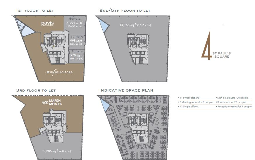 4 ST PAULS SQUARE FLOOR PLANS