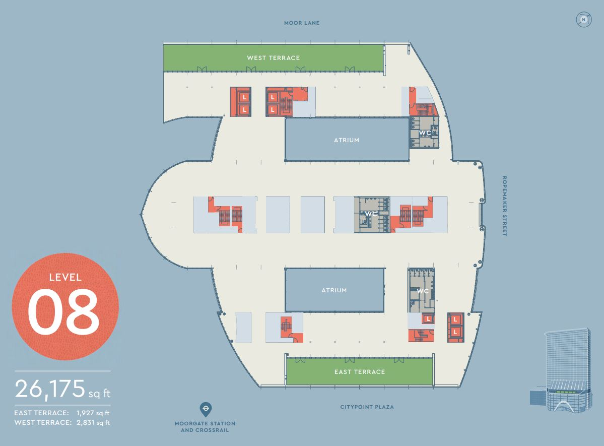 CITYPOINT LEVEL 8 FLOOR PLAN