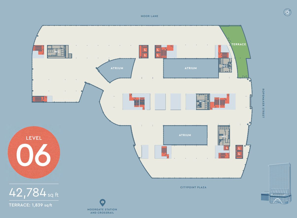 CITYPOINT LEVEL 6 FLOOR PLAN