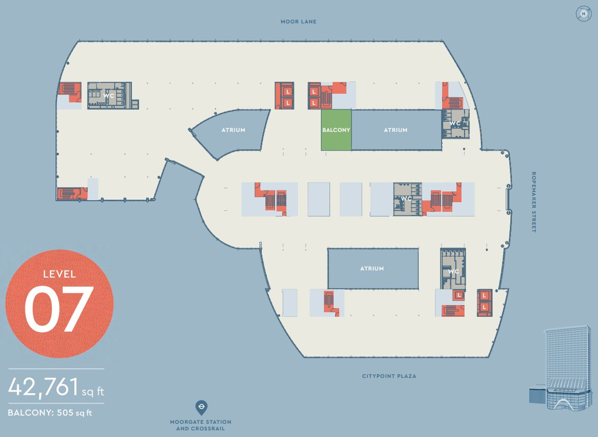 CITYPOINT LEVEL 7 FLOOR PLAN