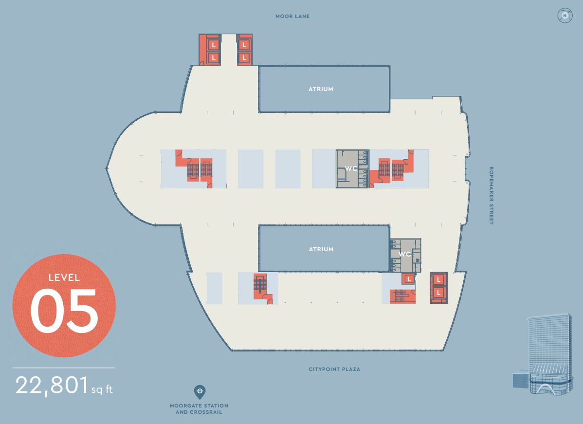 CITYPOINT LEVEL 5 FLOOR PLAN