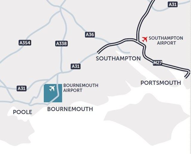 107D BOURNEMOUTH AIRPORT MAP 2