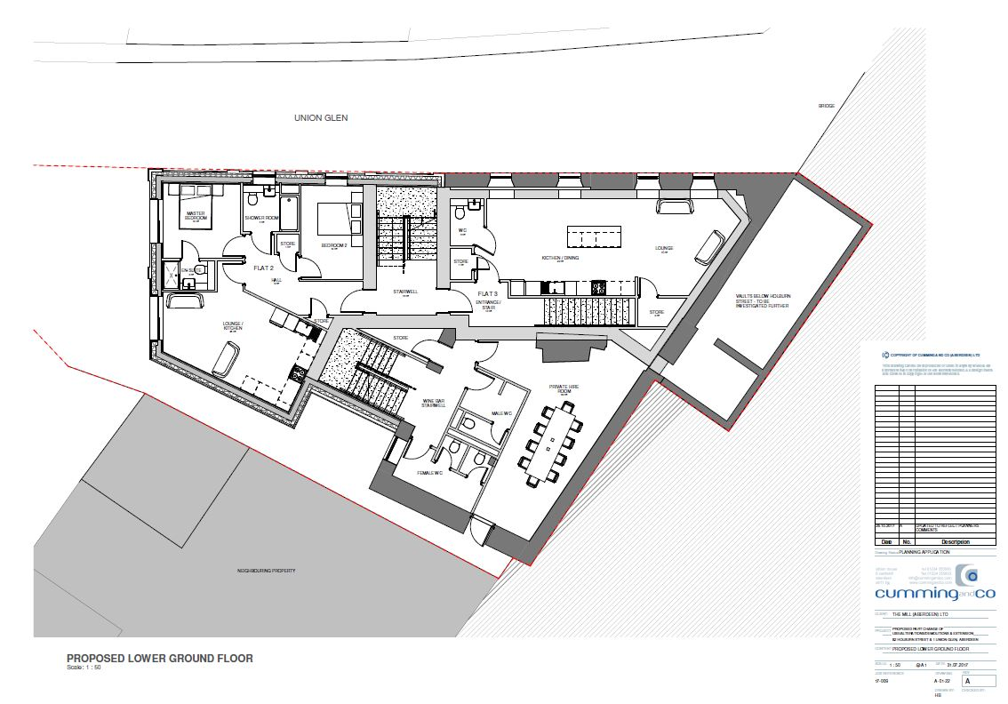 PROPOSED LOWER GROUND FLOOR LEVEL